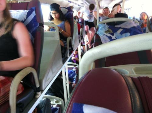 ダナンからフエへ向かうバス