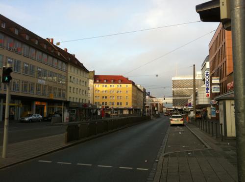 ニュルンベルクの駅前