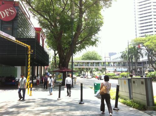 シンガポールの歩道