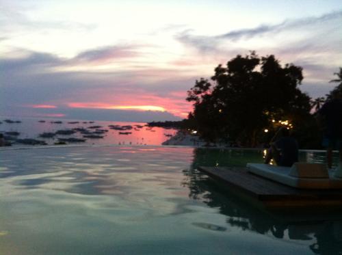 パワラン諸島の夕暮れ