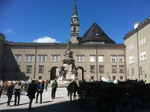 ザルツブルグの大学広場