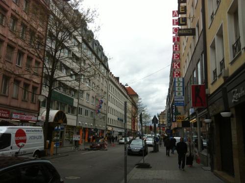 ミュンヘン中央駅近く