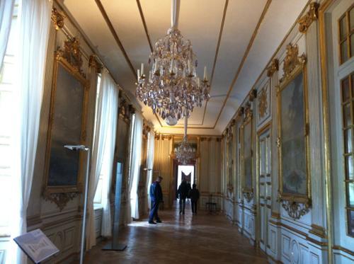 ニンフェンブルク宮殿の廊下