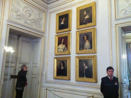ニンフェンブルク宮殿の美人画ギャラリー