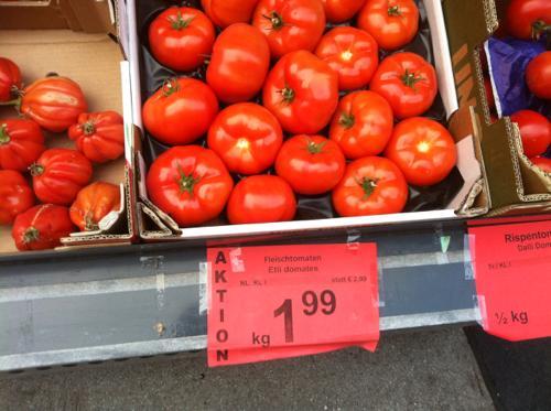 グラーツのSPARのトマト