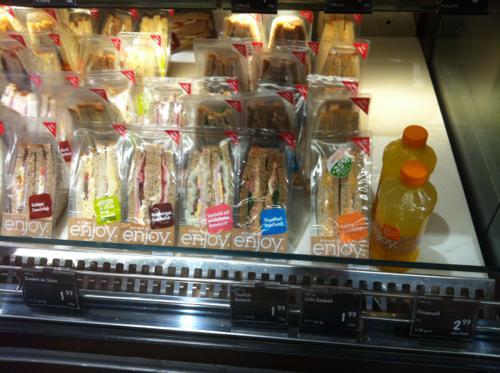ザルツブルクのLIDLのサンドイッチ
