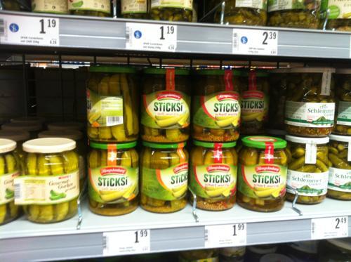 インスブルックのスーパーのピクルス