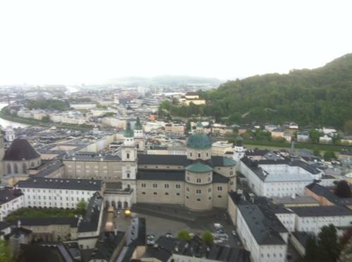 ホーエンザルツブルク城からの眺め