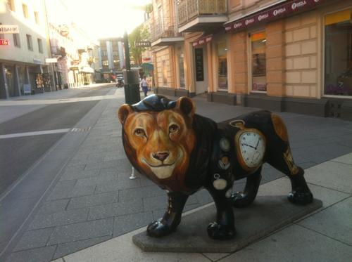バートイシュルのライオンの彫刻