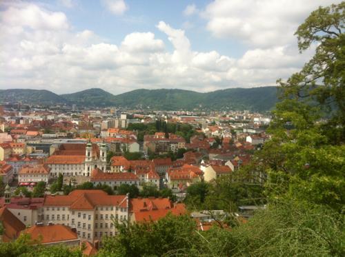 オーストリアの街並み