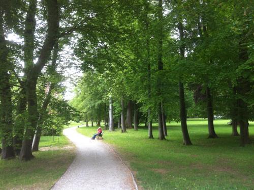エッゲンベルク城の庭園