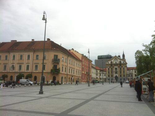 リュブリャナの広場