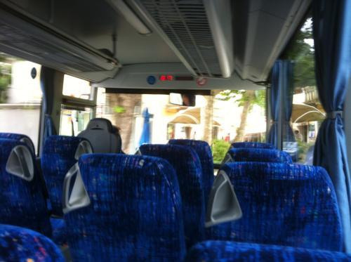 コペルからのバスの車内