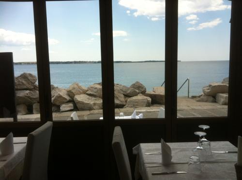 レストランからもアドリア海が見える