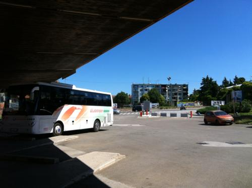 プーラのバスターミナル