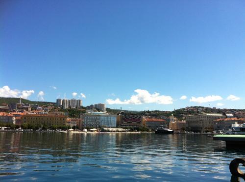クロアチア・リエカの港