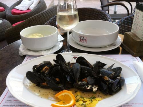 ムール貝と白ワイン