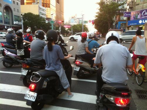 台湾のバイクレーン