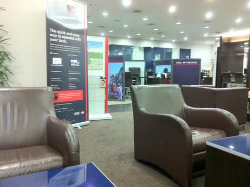 HSBCマレーシアのプレミアラウンジ