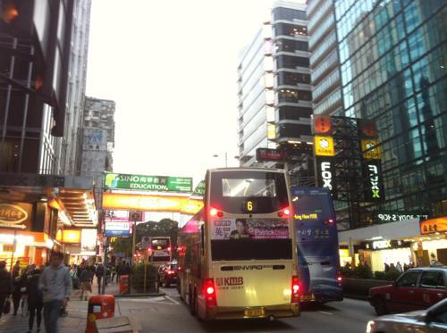 香港の金融街