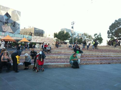 メルボルンの広場