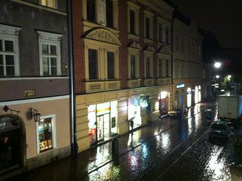 夜のクラクフ旧市街