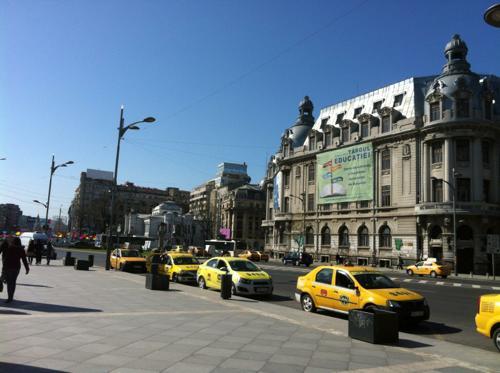 ルーマニアのタクシー