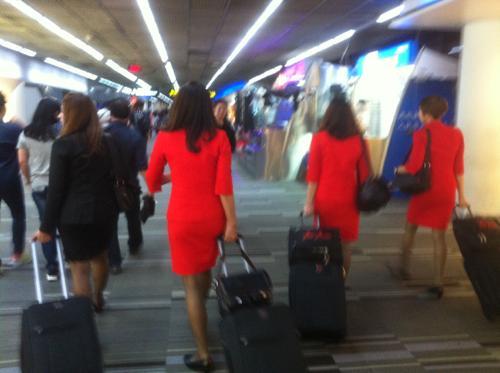 AirAsiaのフライトアテンダント