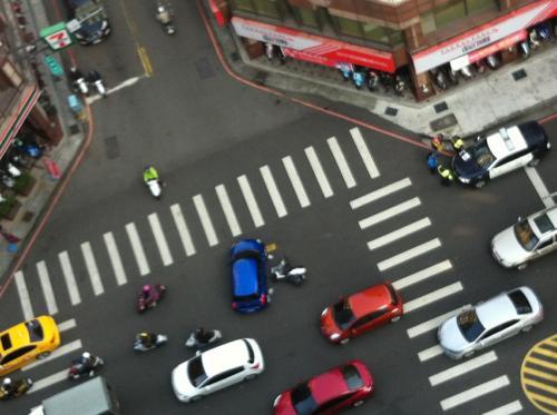 交通事故の現場