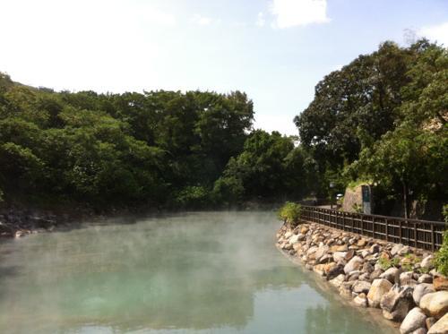 北投温泉親水公園の熱泉