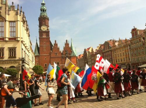 ブロツワフの中央市場広場
