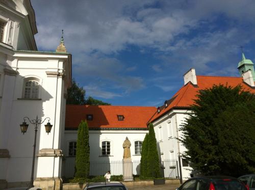 ポーランドの石像