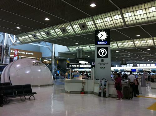 一時帰国で成田空港に到着