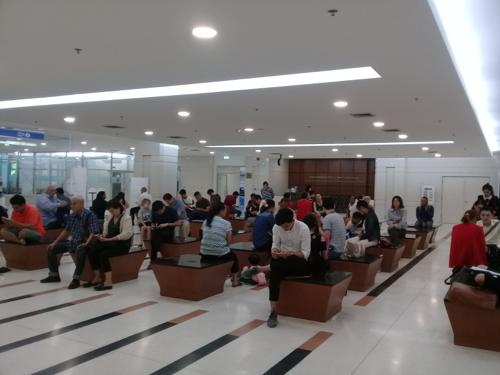 移民局の待合室